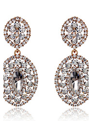 Crystal Drop Earrings for Lady Wedding Party Fine Jewelry