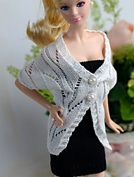 Casual More Accessories For Barbie Doll White / Black Skirts / Tops