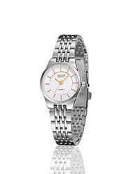 anlog faixa de aço relógio de quartzo japão pc vestido de senhora