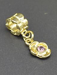 accessoires bricolage boucle d'oreille de perles bracelet collier 18 placage ornements floraux incrustés d'or cz de mode hac0066