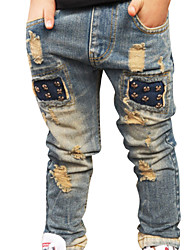 New Children Boys Ripped Jeans Kids Fashion Denim Pants Baby Casual Jeans Infant Boys Brand Slim Fit Pants Kids Trousers