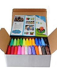 24 pcs / set DIY warna-siste konyol dempul plastisin anak untuk fimo polimer tanah liat