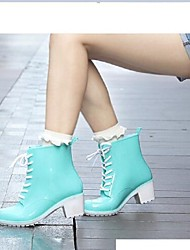 Women's Shoes PVC Chunky Heel Heels / Rain Boots Heels / Boots Outdoor / Work & Duty / Athletic / Casual