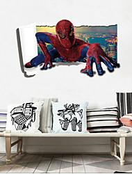 Cartoon Design / Mode / Personen Wand-Sticker 3D Wand Sticker,PVC 60*90(23.6*35.4 inch)