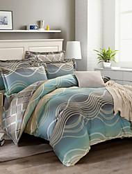 100% Cotton Bedclothes 4pcs Bedding Set Queen Size Duvet Cover Set good qulity