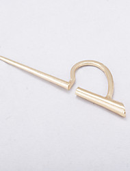 Non Stone Taper Shape Stud Earrings Jewelry Euramerican Fashion Personalized Daily Casual Alloy 1pc