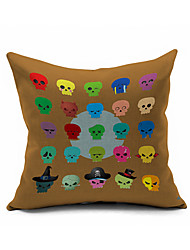 2016 New Arrival  Skull Car Cotton/Linen Pillow Cover , Nature Modern/Contemporary Pillow Linen Cushion