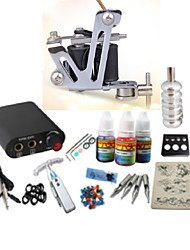 Tattoo Kit JH562 1 Machine With Power Supply Grips 3x10ML Ink