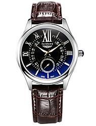 New Fashion Men's Casual Genuine Leather Quartz Wrist Watches Cool Watch Unique Watch