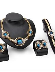 Women's Pearl Jewelry Set Sapphire / Rhinestone