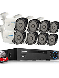 Annke®   8CH Channel 720P HDMI DVR HD CCTV Outdoor IR Home Security Camera System with 1TB HDD