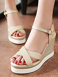 Women's Shoes Glitter/Wedge Heels/Sling back/Open Toe Sandals Dress Pink/Silver/Gold