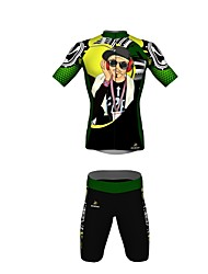 MYKING Men's Cycling Bike Short Sleeve Clothing Set Bicycle Wear Suit Jersey and Shorts Hiphop