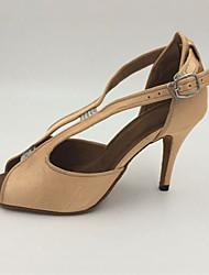 Customizable Women's Dance Shoes Latin Satin / Sparkling Glitter Stiletto Heel Other