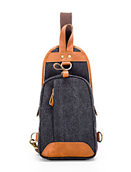 Cowhide / Canvas Messenger Shoulder Bag / Backpack / Sports & Leisure Bag