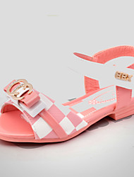 Girls' Shoes Outdoor / Casual Peep Toe / Gladiator Leatherette Sandals Black / Pink / Red