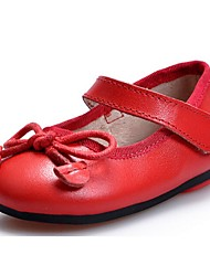 Baby Shoes Dress / Casual Leather Flats Black / Red / Black and White