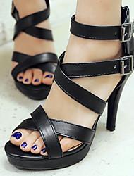 Women's Shoes Stiletto Heel Heels/Platform/Open Toe Sandals/Boots Party & Evening/Dress Black/White