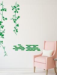 Romance / De moda / Florales Pegatinas de pared Calcomanías de Aviones para Pared,PVC S:58*61cm/ M:99*105cm/ L:127*134cm