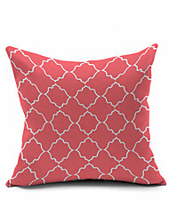 Classic Coral Cotton/Linen Pillow Cover , Nature Modern/Contemporary  Pillow Linen Cushion