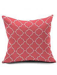 Classic Coral Cotton/Linen Pillow Cover , Nature Modern/Contemporary  Pillow Linen Cushion