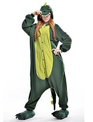 Kigurumi Pijamas nueva Cosplay® Dinosaurio Leotardo/Pijama Mono Festival/Celebración Ropa de Noche de los Animales Halloween Verde Retazos