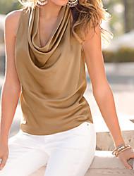2016 Summer New Fashion Women's Sleeveless Cowl Neck Top Shirt