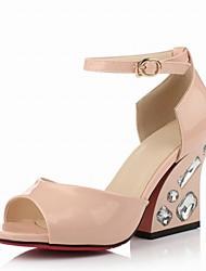 Zapatos de mujer-Tacón Robusto-Punta Abierta / D'Orsay y Dos Piezas-Sandalias-Boda / Oficina y Trabajo / Vestido / Casual / Fiesta y Noche