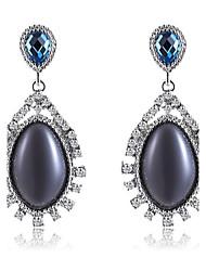 Earring Drop Earrings Jewelry Women Gemstone & Crystal / Platinum Plated 1pc Black / Purple
