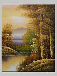 Mini tamaño paisaje pintura al óleo moderna pintada a mano sobre lienzo de un panel listo para colgar 20x25cm