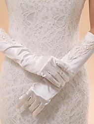 Elbow Length Fingertips Glove Elastic Satin Bridal Gloves Party/ Evening Gloves Spring Summer Fall Winter Embroidery