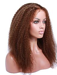 cabello humano rizado de 8 a 12 pulgadas rizado pelucas pelucas delanteras brasileño rizado rizado encaje sin cola para las mujeres negras