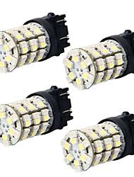 2pcs 3157 16w 3528 60smd para o carro cruze levou virar lâmpada de sinal, luz de freio do carro, carro lâmpada de back-up