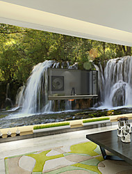 JAMMORY Art Deco Wallpaper Contemporary Wall Covering,Other Landscape Waterfall Large Mural Wallpaper