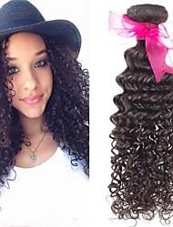 """3pcs / lot 300g de qualidade superior brasileiras extensões de cabelo virgem preto natural onda profunda cabelo tecer 8 """"-26"""" venda"""