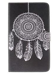 Traumfänger-Muster PU-Leder Ganzkörper-Fall mit Ständer und Kartenslot für t375 Samsung Galaxy Tab e 8.0 t377