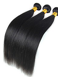 High Quality 3Bundles 50g/Piece Peruvian Virgin Hair Weave Natural Black Straight Human Hair Weaves.