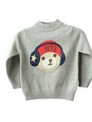 Girl's Gray Sweater & Cardigan,Cartoon Cotton Winter