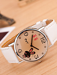 Kids' European Style Fashion Cute Bunny Casual Student Fashion Watch Cool Watches Unique Watches Strap Watch