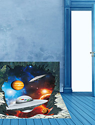 Home Decoration Poster well design Wall Sticker Space Ship Wallpaper