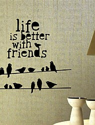 Better Life With Friend Living Room Wall Stickers Bedroom Background Wallpaper Customized Vinyl Decals