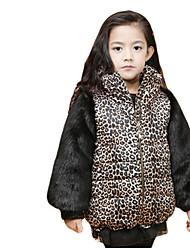 Mädchen Jacke & Mantel Polyester Winter Tierdruck