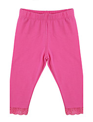 Girl's Pink / Gray Pants, Cotton Spring / Fall