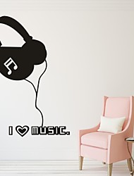 Musique / Mode Stickers muraux Stickers avion,PVC S:40*57cm/ M:54*77cm/ L:70*100cm