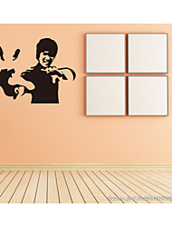 4120 Famous Kungfu Movie Star Hero Home Decals Wall Stickers for Boy Fans Bedroom Decoration Mural Art Sticker