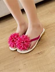 Women's Shoes Synthetic Flat Heel Flip Flops Flip-Flops Outdoor / Casual Black / Pink / White