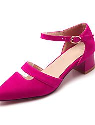 женская обувь пу лето / осень / пятки заостренный носок пятки офис&карьера / вскользь коренастый пятки пряжки / полым outblack
