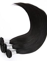 """3шт / много 8 """"-30"""" необработанный Реми человеческие волосы индийские волосы девственницы прямые натуральные черные волосы пучки"""