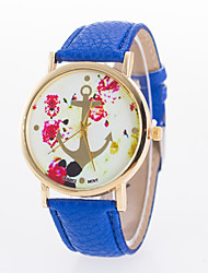 Women's European Style Fashion Geneva Anchor Print Wrist Watch Cool Watches Unique Watches