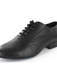 Customizable Men's Dance Shoes Latin / Dance Sneakers / Modern / Salsa Leatherette Flat Heel Black